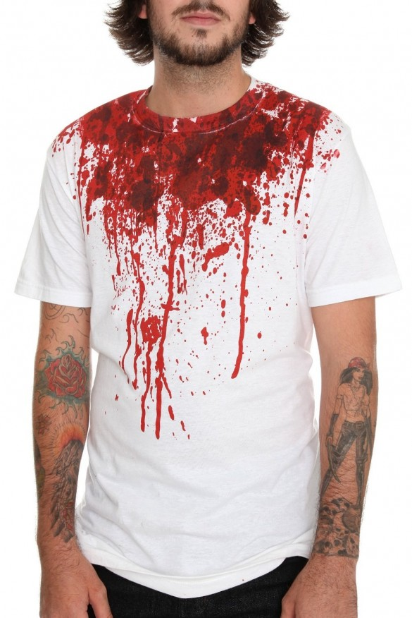 Bloody t-shirt Halloween T-Shirt custom design