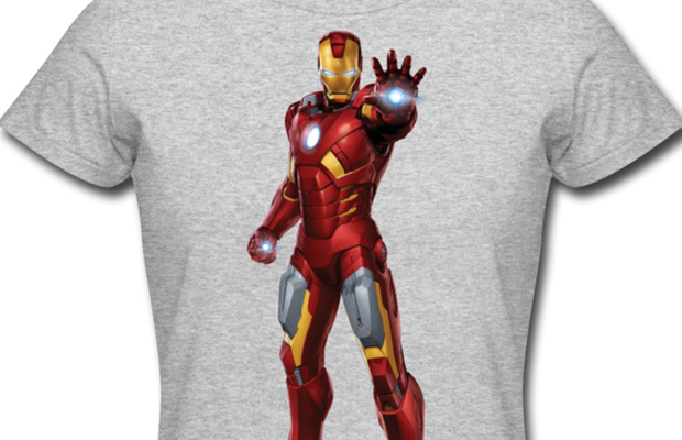 Daily Tee Iron Man t-shirt design from spreadshirt white for men main image