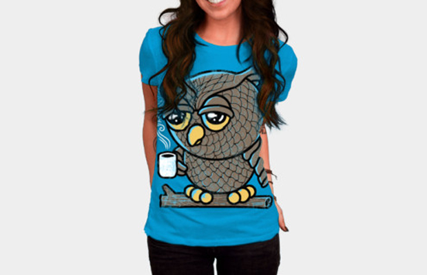 Daily Tee Owl I want is Coffee t-shirt design by qetza main image