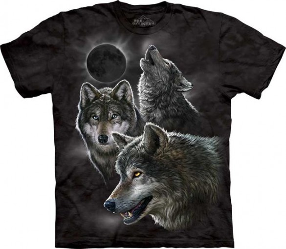 Eclipse Wolves custom tee design