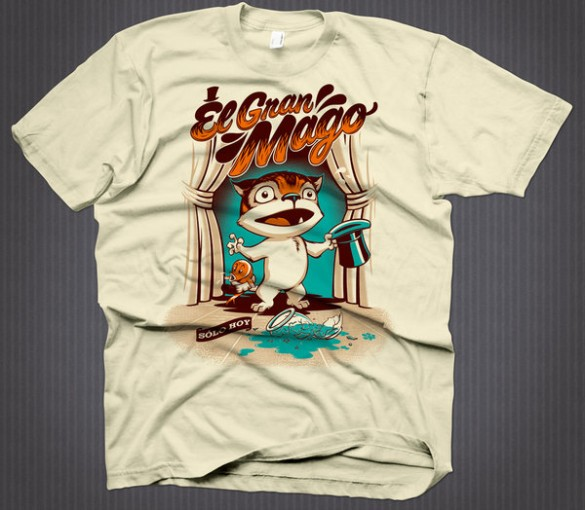 El Gran Mago custom t-shirt design by Rubens Scarelli
