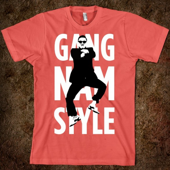GANGNAM STYLE (STYLIN) custom t-shirt design