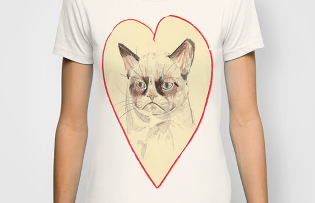 Grumpy Cat Love Custom T-shirt Design Girl main image
