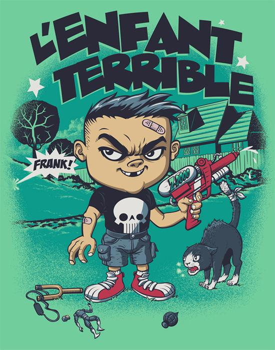 L'Enfant Terrible custom tee design by Rubens Scarelli