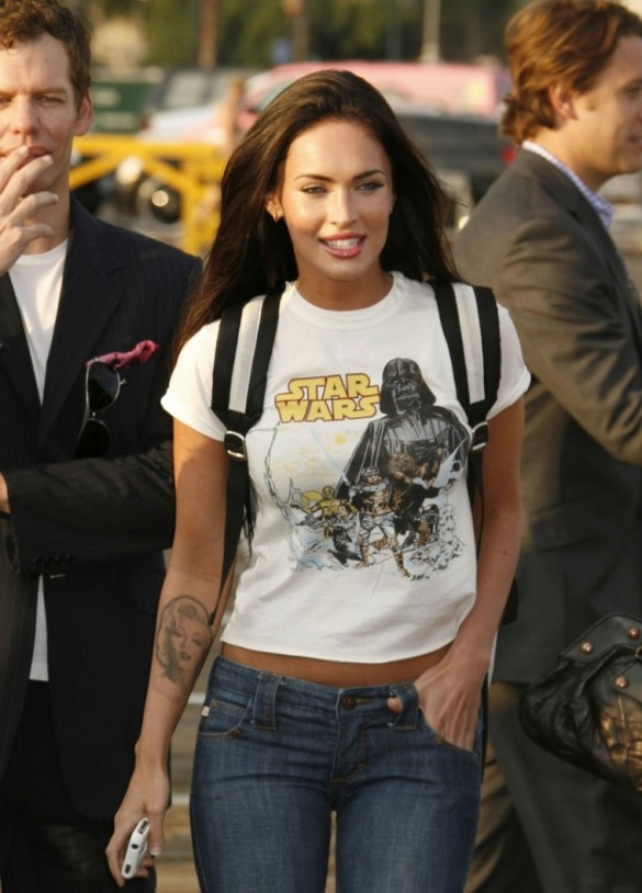 Megan Fox in a sexy Star Wars t-shirt 4