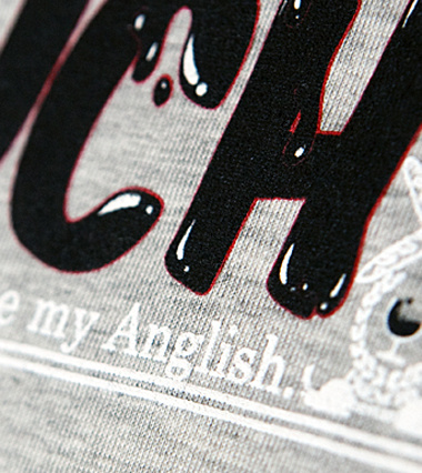 My Anglish FU very much details custom t-shirt design by IKS