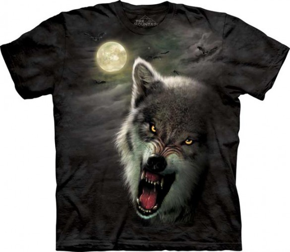 Night Wolf custom tee design