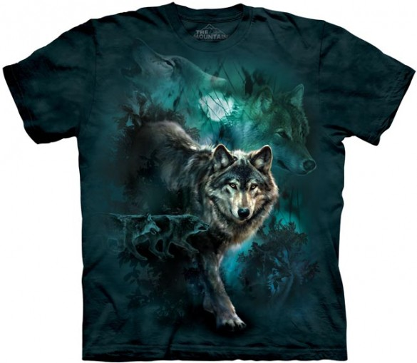 Night Wolves custom tee design