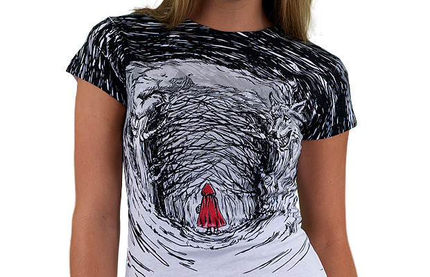 Red-Riding-Hood-Custom-T-shirt-Design-Girl