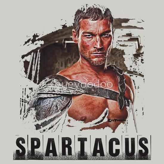 Spartacus custom tee design silver