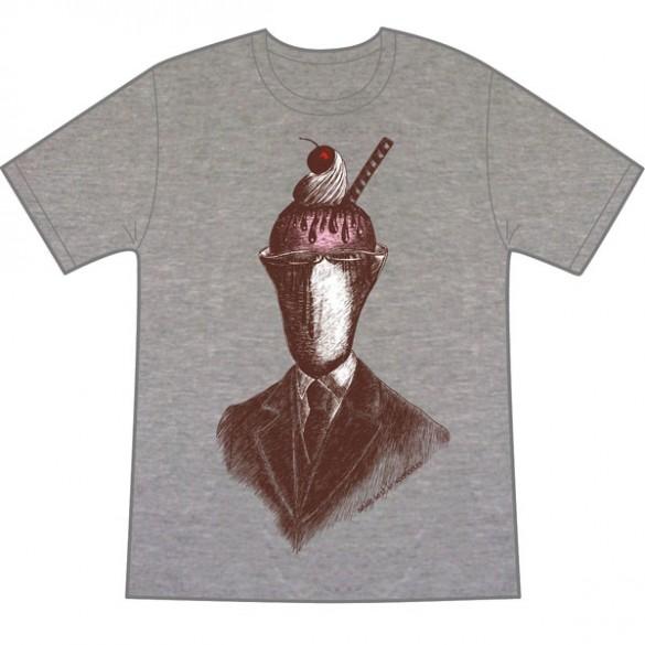 Sundae best on melange t shirt design by vonmonkey fancy for Best place for custom t shirts