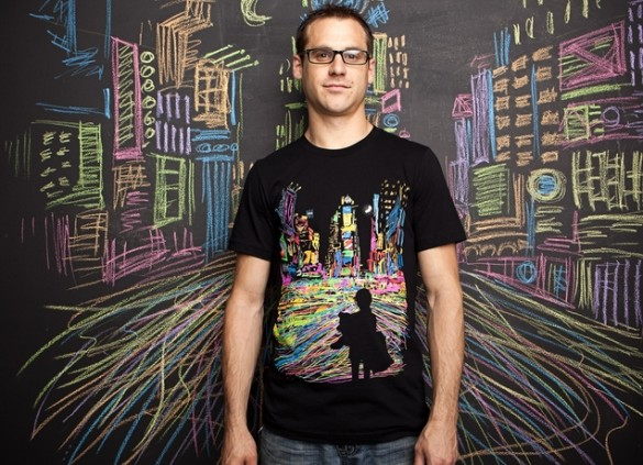 THE CITY THAT NEVER SLEEPS custom boy t-shirt design by Dina Prasetyawan m