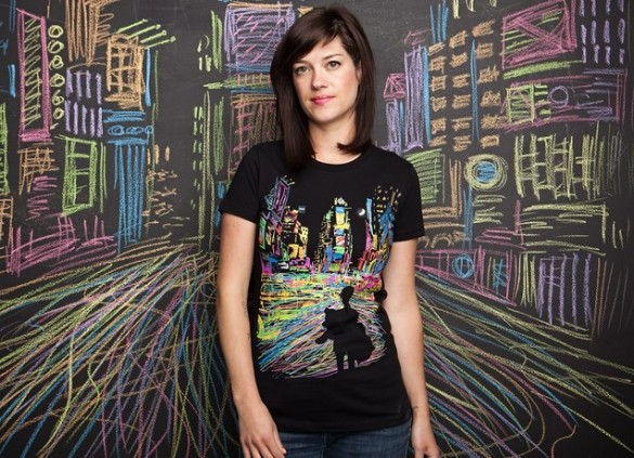 THE CITY THAT NEVER SLEEPSTHE CITY THAT NEVER SLEEPS custom girl t-shirt design by Dina Prasetyawan  by Dina Prasetyawan