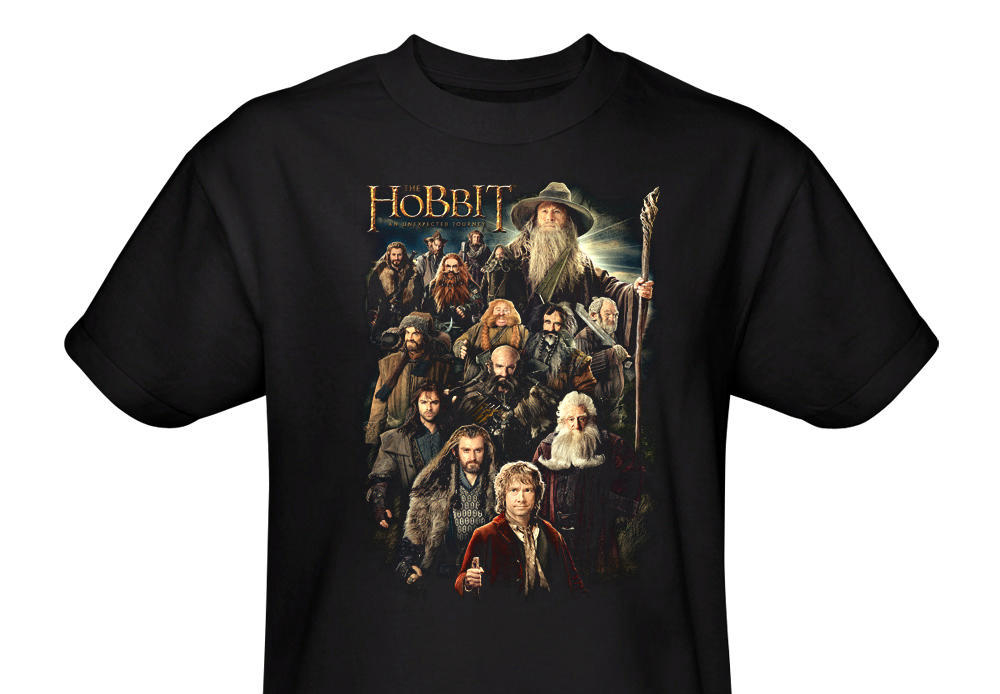 The Hobbit An Unexpected Journey Black Tee official t-shirt design