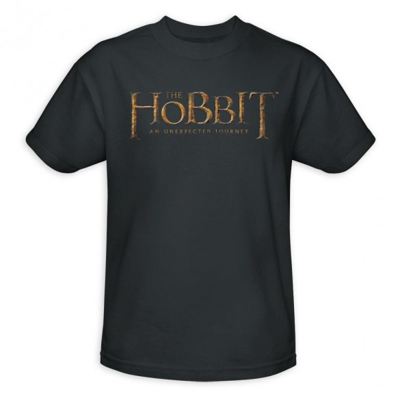 The Hobbit An Unexpected Journey Logo Charcoal Tee official t-shirt design