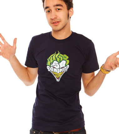 Why so serious - The Joker - Batman - men custom t-shirt design by Dracoimagem