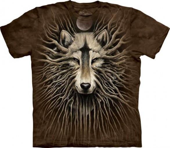 Wolf Roots custom tee design