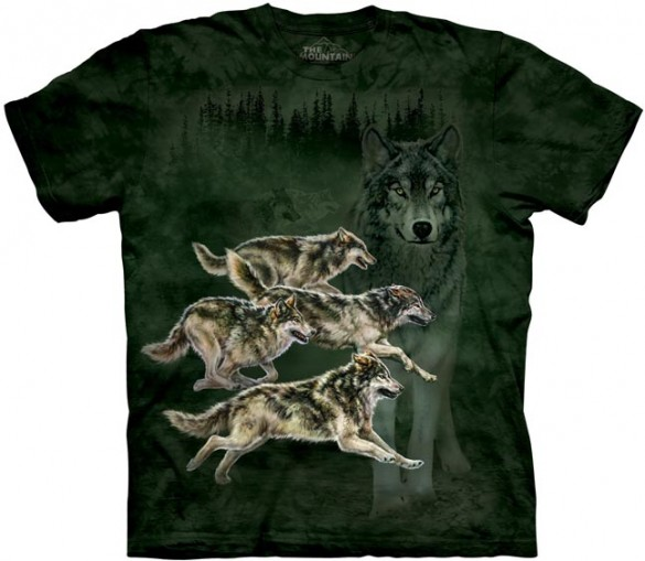 Wolf Runner custom tee design