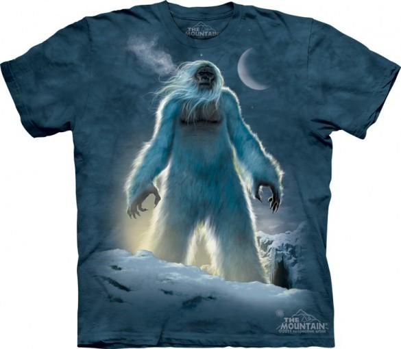 Yeti custom t-shirt design from the mountain