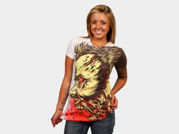 ZOMBIE FRENZY Halloween T-Shirt custom design