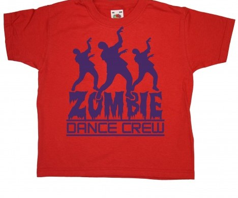 Zombie Dance Crew Halloween T-Shirt custom design
