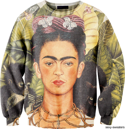 custom sweater Frida design