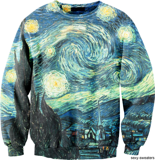 custom sweater Van Gogh Night Visions design
