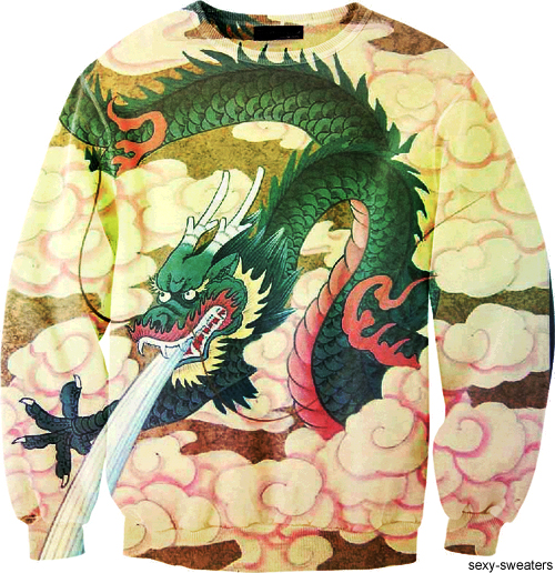 custom sweater dragon tatoo design