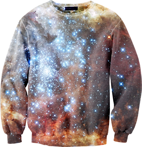 custom sweater galaxy stars design