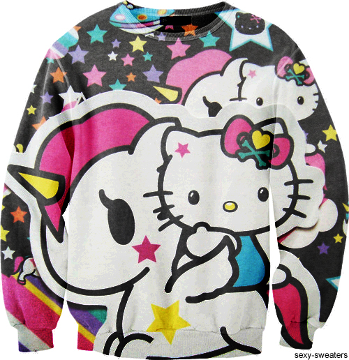custom sweater hello kitty design