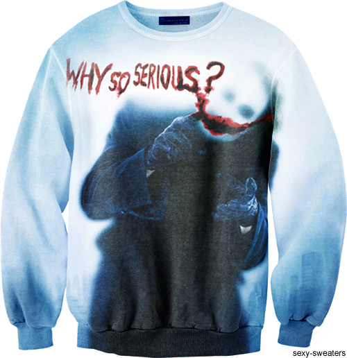 custom sweater joker why so serious design