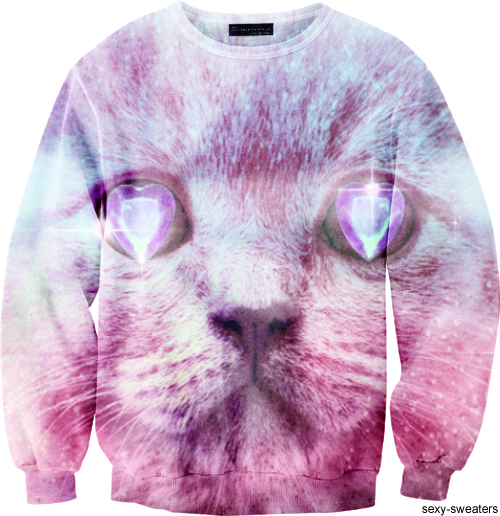 custom sweater kitty cat design
