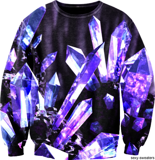 custom sweater mineral crystals design