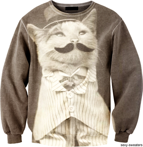 custom sweater mister cat design
