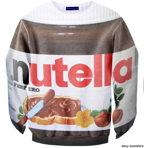 custom sweater nutella chocolate design
