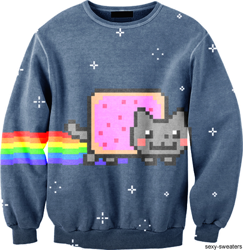 custom sweater nyan cat design