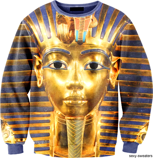 custom sweater pharaoh design