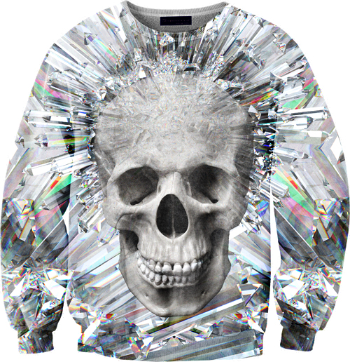 custom sweater skull design