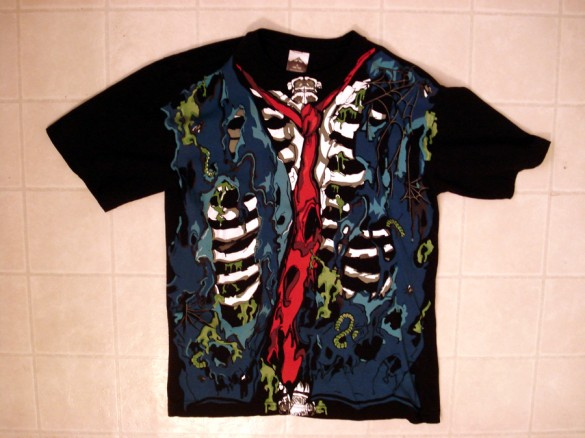 zombie chest Halloween T-Shirt custom design