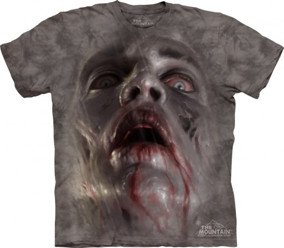 zombie face Halloween T-Shirt custom design