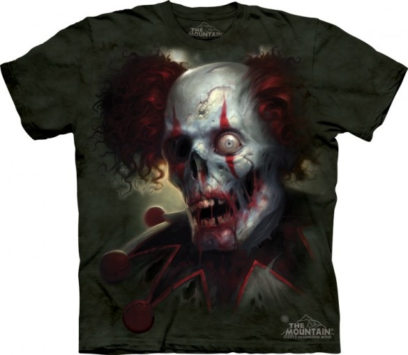 zombini dead clown Halloween T-Shirt custom design