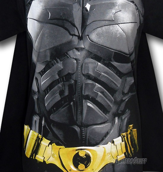 Batman Dark Knight Armor Costume &amp; Cape T-Shirt