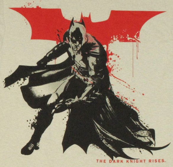 Batman Dark Knight Rises Stenciled T Shirt