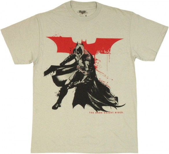 Batman Dark Knight Rises Stenciled splatter paint T Shirt