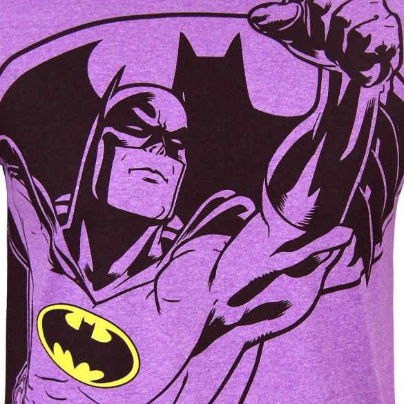 Batman Mens Neon Purple Heather Tee custom design