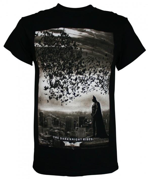 Batman The Dark Knight Rises City Bats Men's T-Shirt custom design