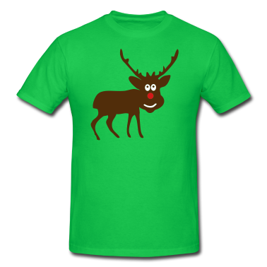 Bright green Reindeer Custom T-Shirts Design
