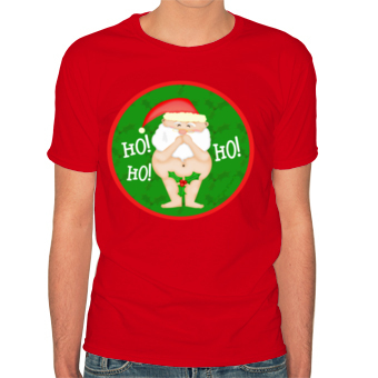 Christmas Naughty Santa Custom T Shirt Design