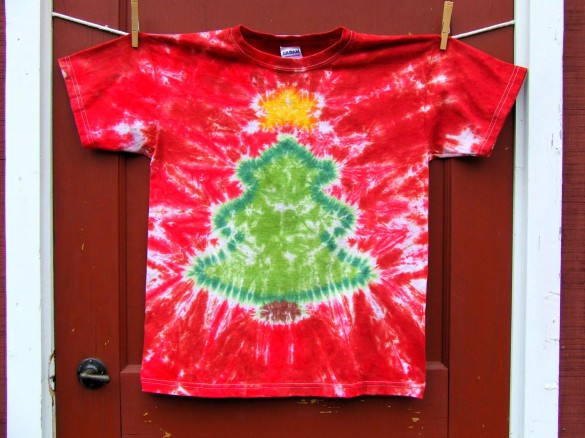 Christmas Tree T-shirt Custom Design Red