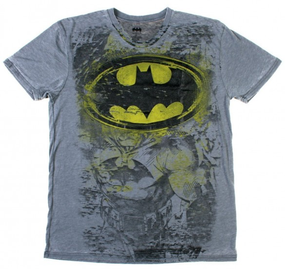 DC Comics Batman Burnout Mens Shirt logo custom t-shirt design